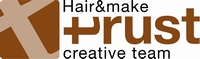 Hair&make trust (トラスト) ロゴ